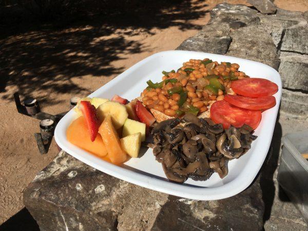 breakfast - tour of Namibia