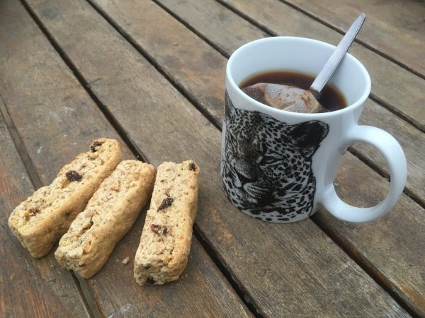 tea with rusks  - tour of Namibia