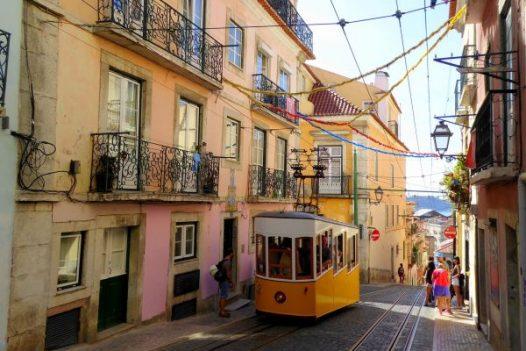 Lisbon Funicular - vegan tours to Lisbon