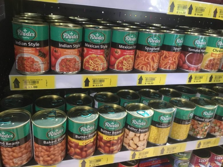Vegan canned foods are abundant in many parts of Africa - vegan African food