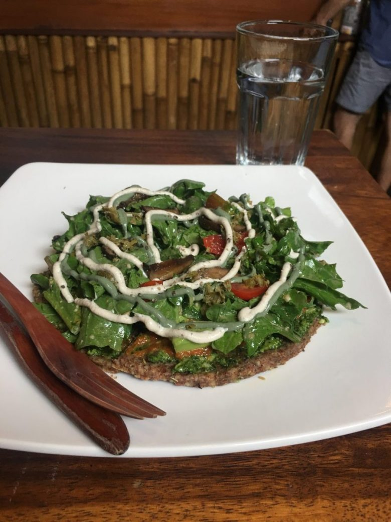 Seeds of Life raw vegan pizza - vegan Bali