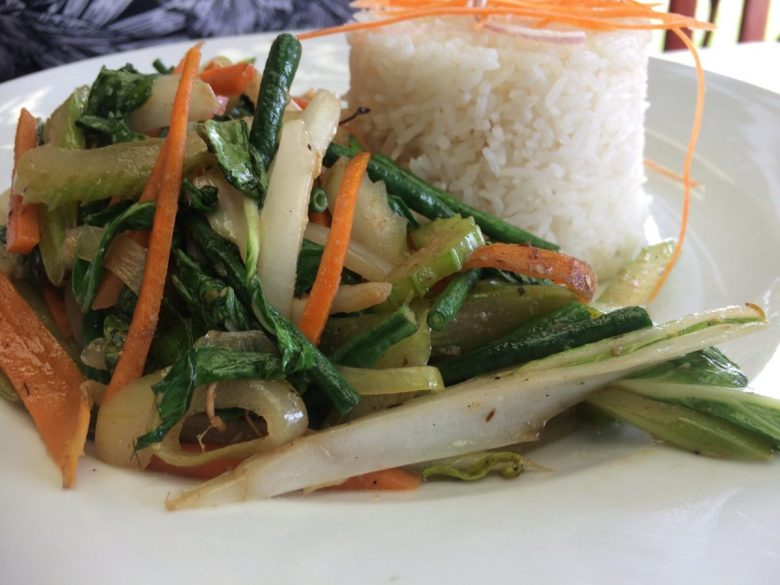 Chop suey at one of the best restaurants in Fiji for international fare