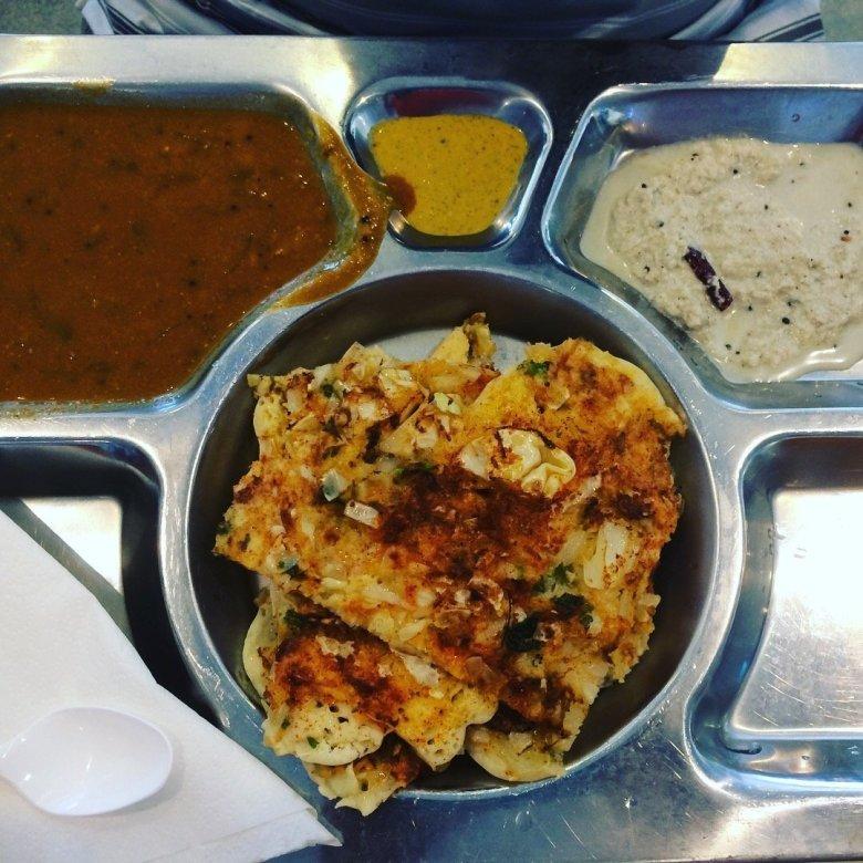Uttappam from a food court in Fiji