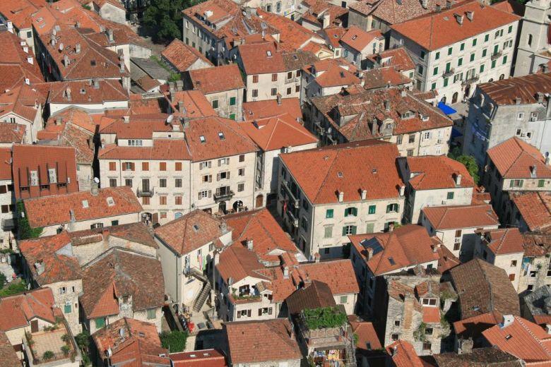 The rooftops of Kotor Montenegro