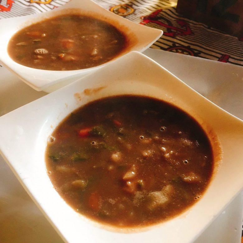 sopa de legumes - vegetables soup - tasty African food