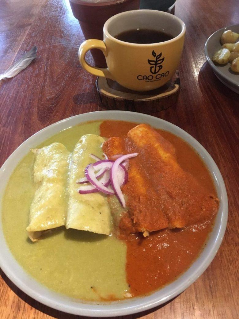 Vegan enchiladas - Mexican food vegan