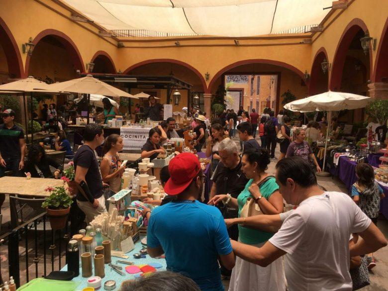 Vegan festival in Queretaro Mexico