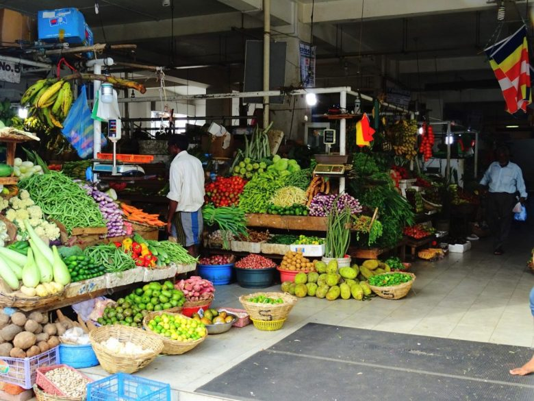 Sri Lankan vegetables and fruits