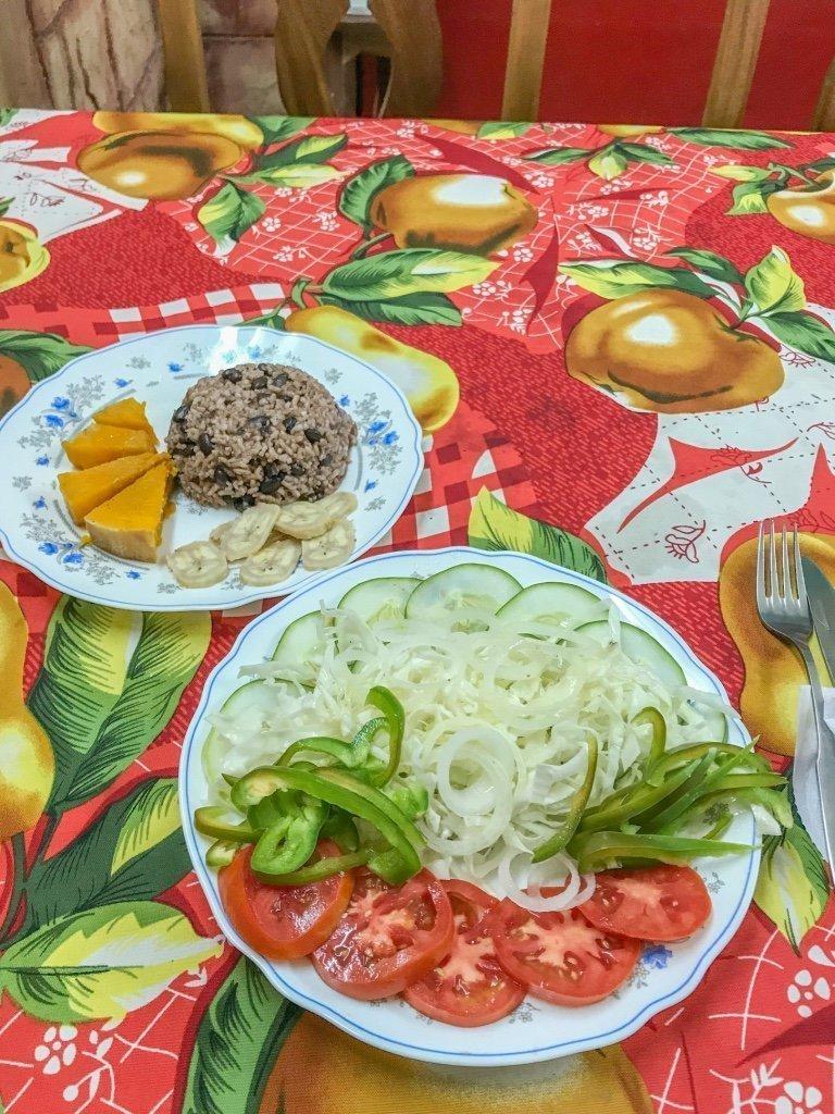 Cuban vegan food