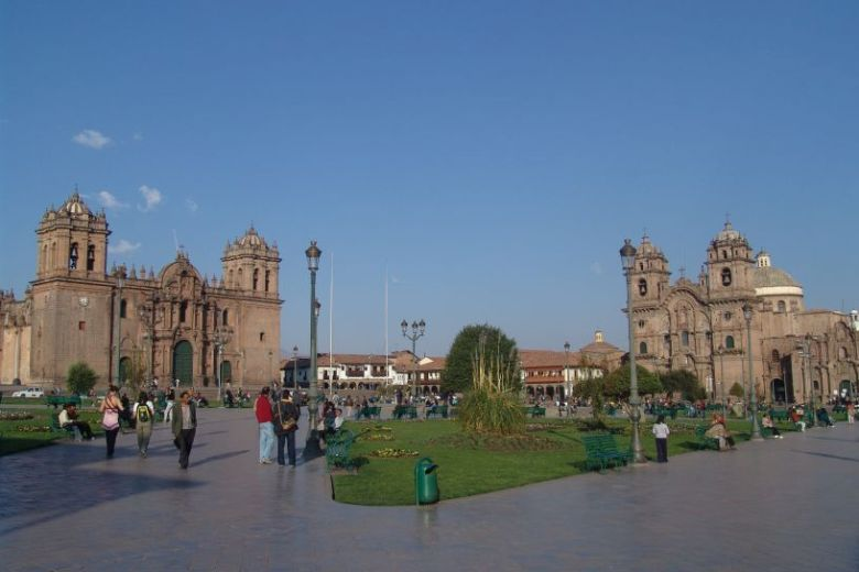 The Beautiful Main Plaza of Cusco Peru