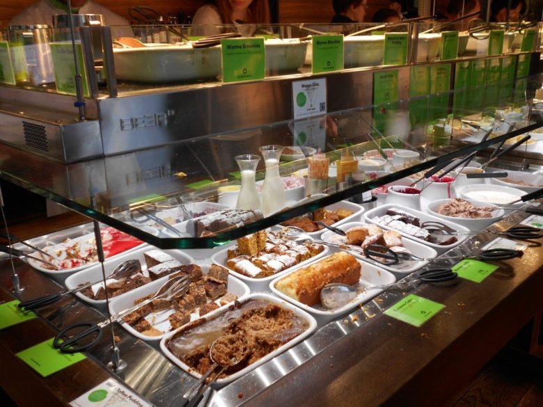 Dessert buffet at the Hiltl restaurant Zurich