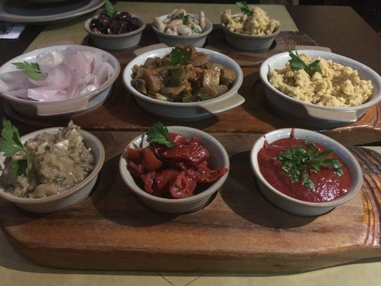 mezze platter - vegan food Malta