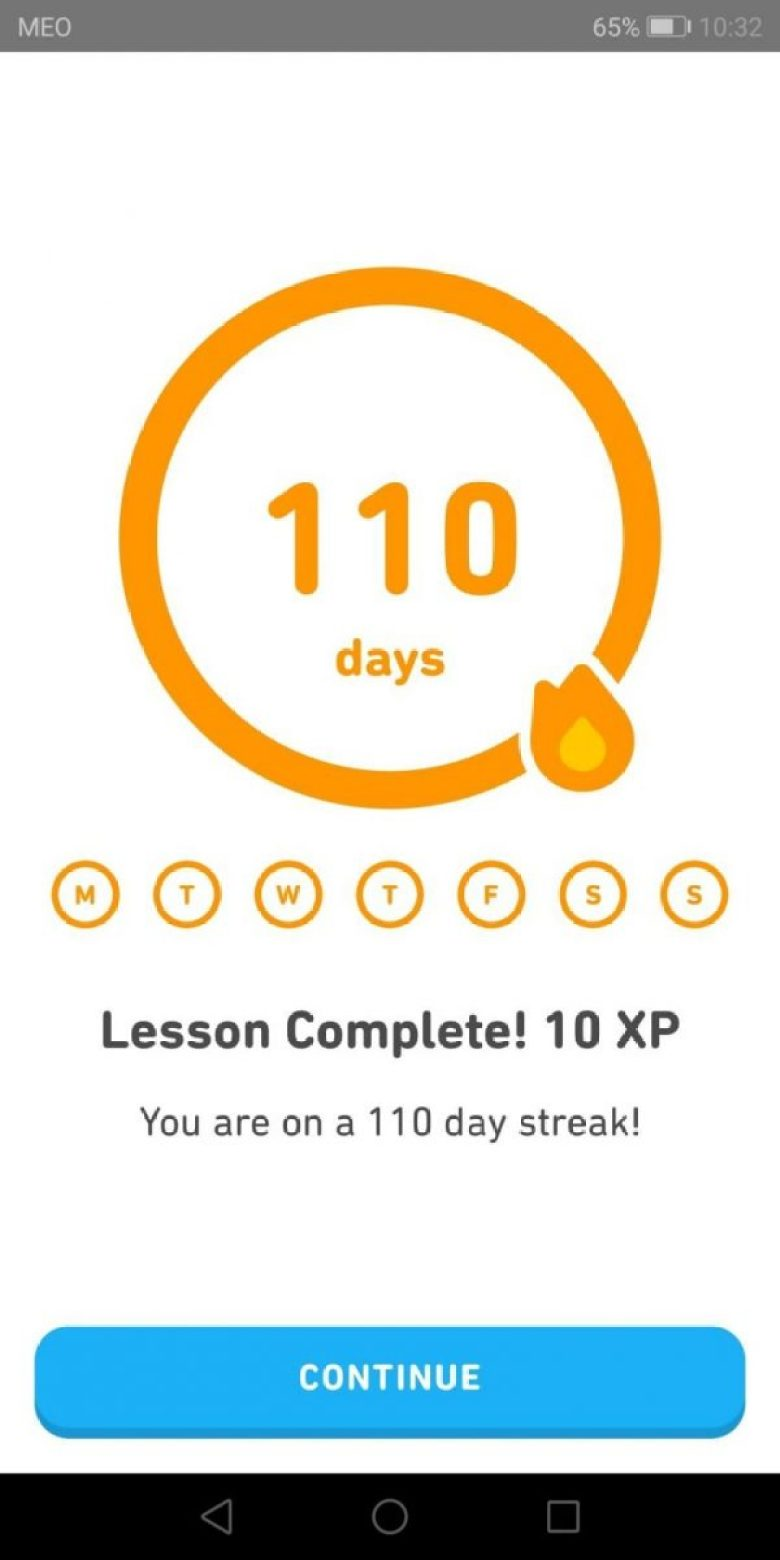 duolingo review - streak count
