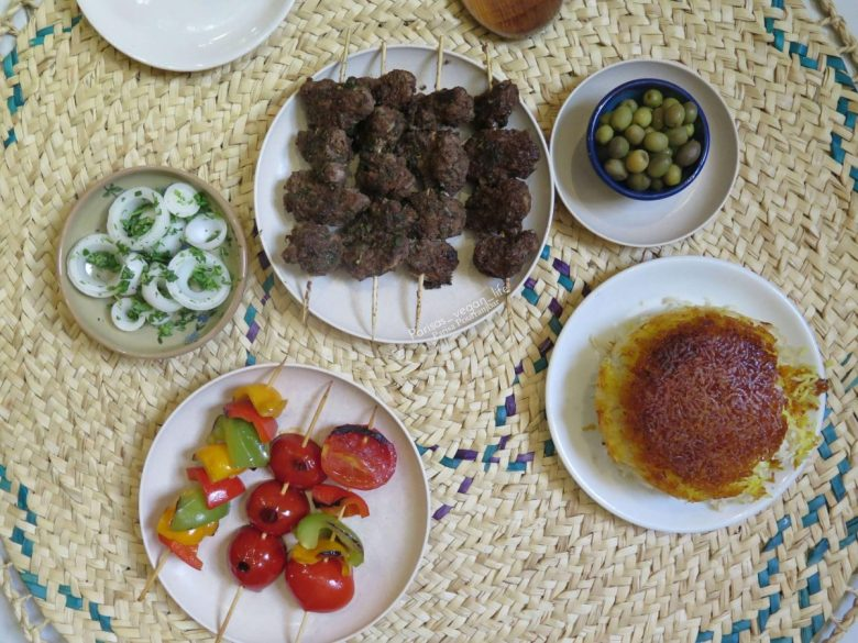 Persian vegan kebab