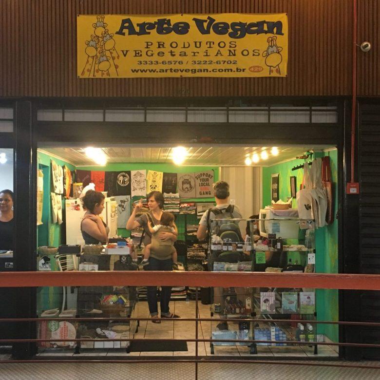 Arte Vegan Store in the Galeria do Rock in Sao Paulo