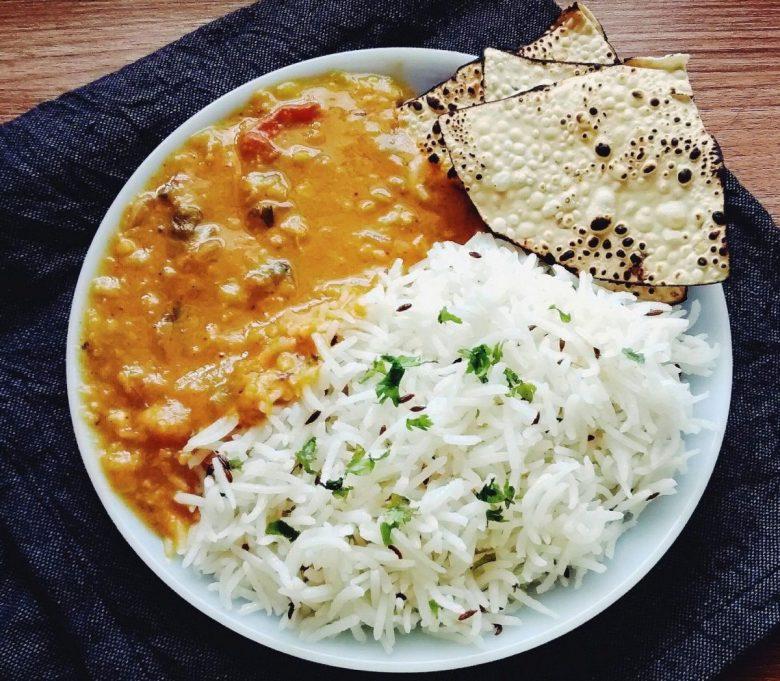 Dal Fry Tadka - vegan indian food