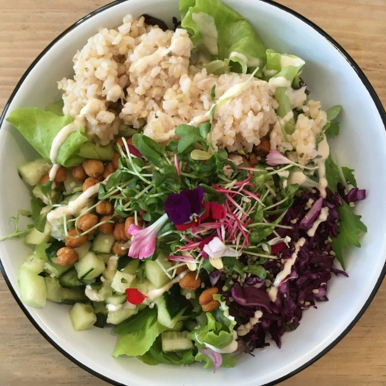 Salad at Eight -- The Health Lounge vegan restaurant in Lisbon