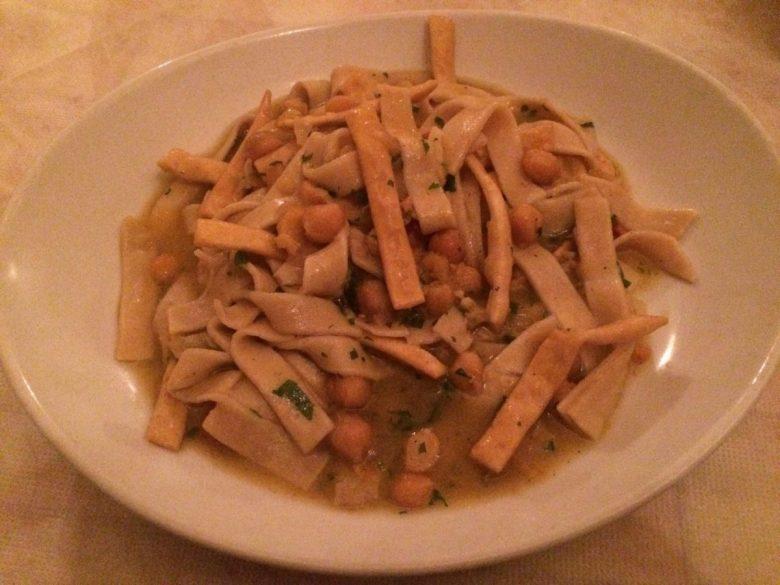 Ciceri e tria -- an authentic dish from the Puglia region