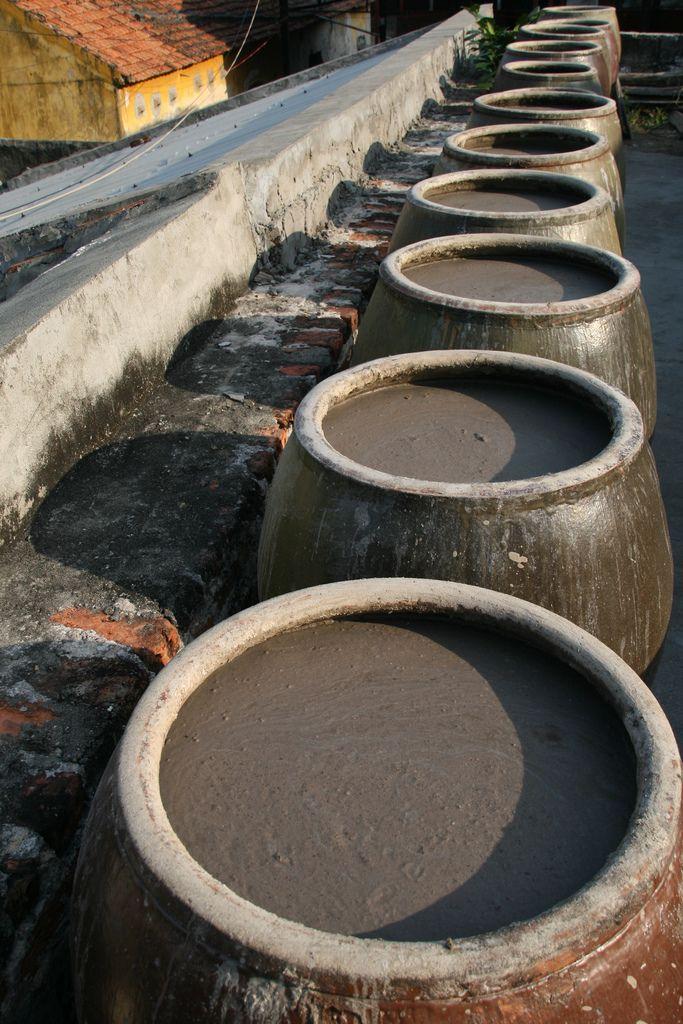 Fish sauce being made in Cat Ba, Vietnam