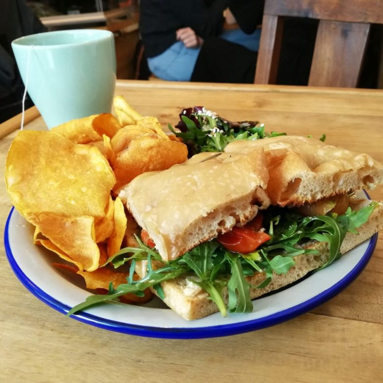 Sand'Epica sandwich at Las Vegan restaurant in Lisbon