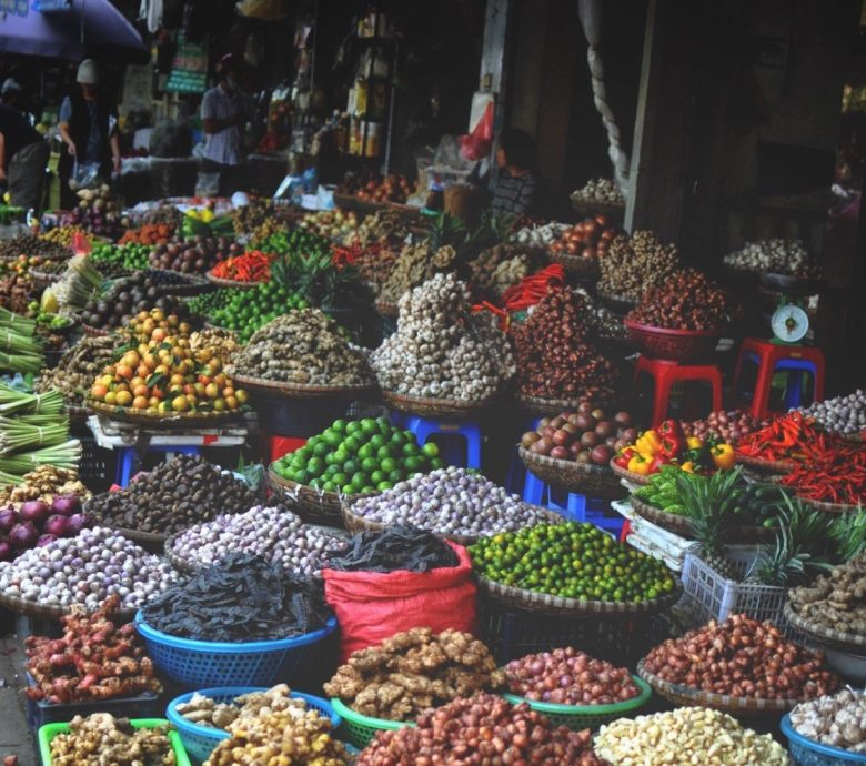 Fresh Fruit and Veg at a Vietnam Market