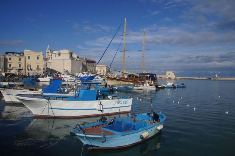The harbor of Trani is worth seeking out when you visit Puglia