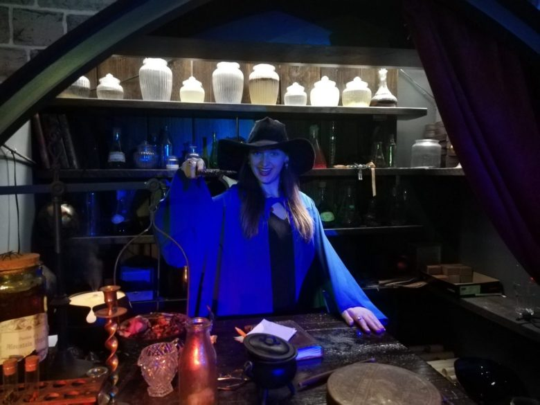 Professor Imperial teaching Potions class