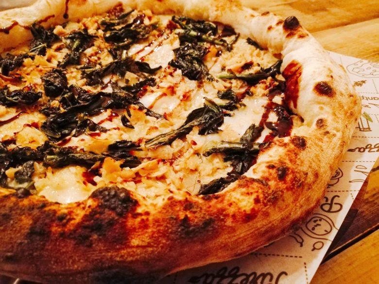 Incredible vegan pizza at Purezza in Camden