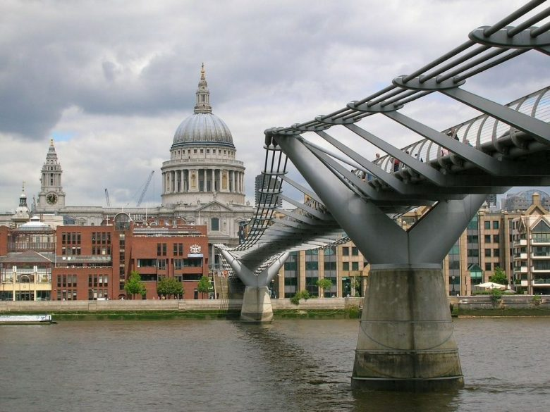 Millennium Bridge, a.k.a. Harry Potter Bridge London
