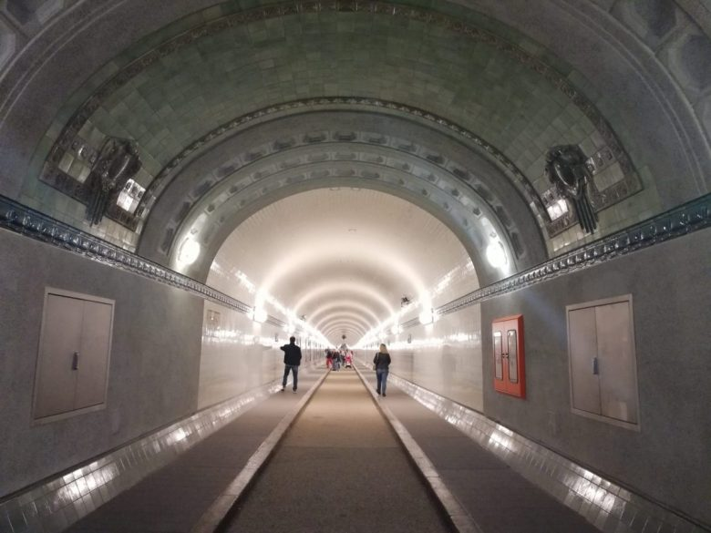 Old Elbe Tunnel in Hamburg Germany