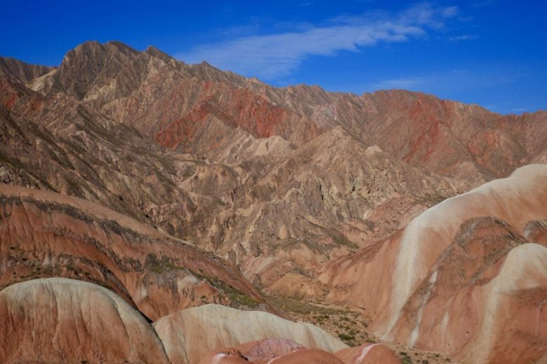 The rainbow mountains in Zhangye, Gansu China