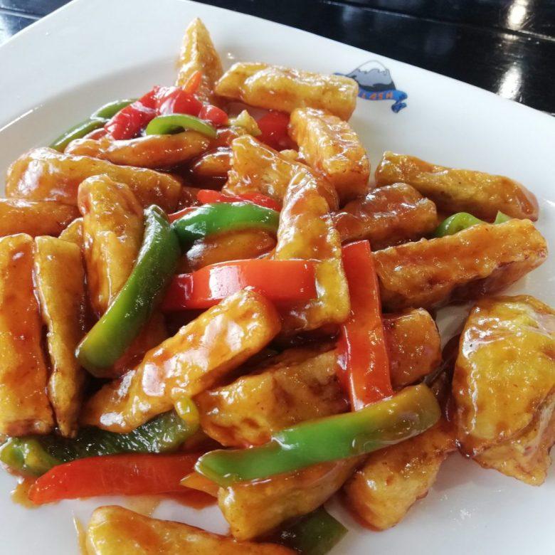 Chinese food at Café Kailash in Ulan Ude