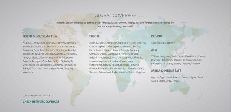 KeepGo International WiFi Hotspot Coverage