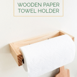 Diy Wooden Paper Towel Holder The Nomad Studio
