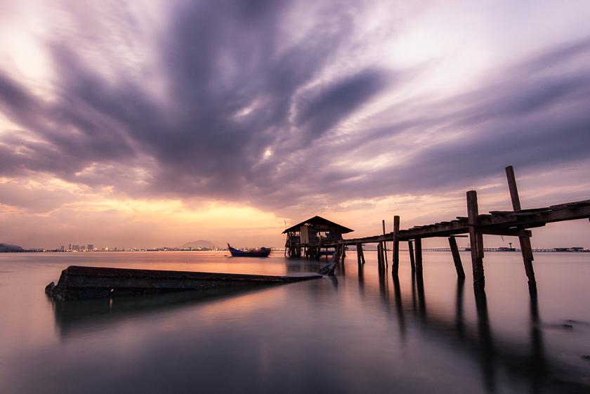 Long Exposure Photography at Fisherman's Jetty | Penang, Malaysia
