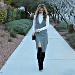 Turtleneck Tip: Layer it under a deep V-neck dress