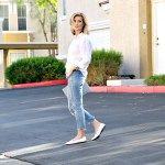SIMPLE STYLE WITH WHITE LOAFERS