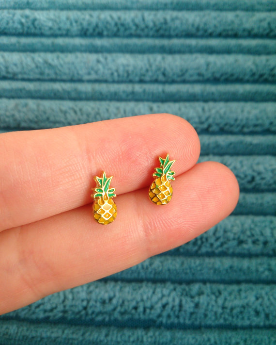 pineapple earrings 2