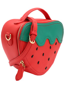strawberry zipper bag sheinside