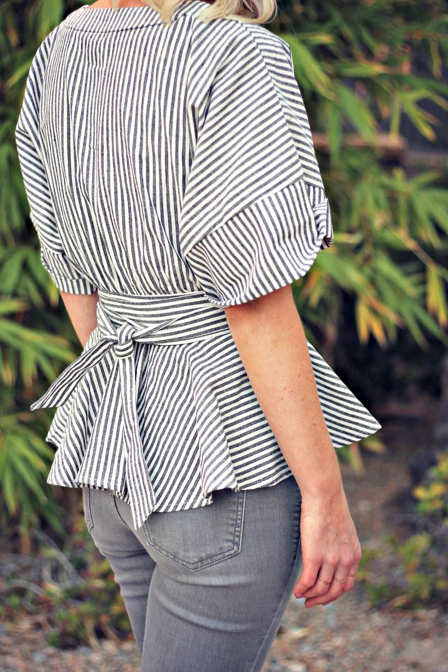 distressed-denim-gray-jeans-studded-purse-striped-top-romwe-peplum-top-ankle-strap-sandals-las-vegas-fashoin-blogger-las-vegas-beauty-blogger-6