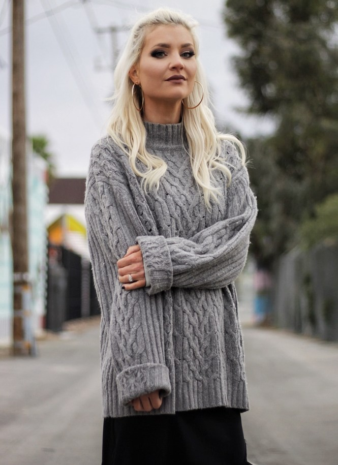 winter outfit, winter style, spring style, 2017, outfit inspo, outfit ideas, how to style, slip dress, sneaker style, street style, las vegas, vegas style, fashion blogger, slouchy sweater