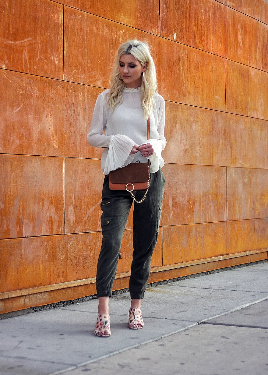 mules, joggers, bell sleeves, chloe, faye, bag, spring style, spring trends