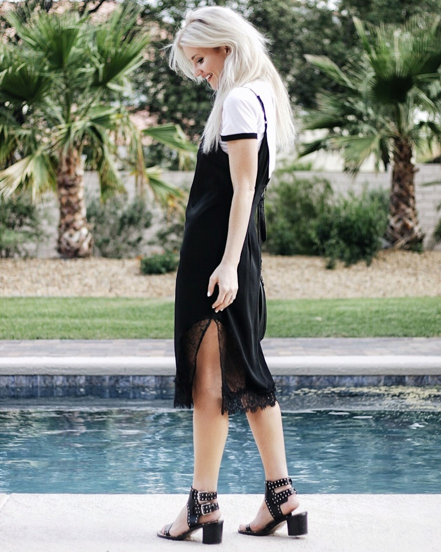fight like a girl, #fightlikeagirl, the nomis niche, collection, summer style, slip dress, lace details, raglan tee, 90's outfit Inso, 90's style, 70's style, studded sandals, Isabel maranta, shoes, studded shoes, bucket bag, summer style, summer outfit Inso, fall outfit Inso, fashion blogger, Las Vegas blogger, Vegas blogger, style blogger, Instagram style, street style, casual style, how to wear, how to style,