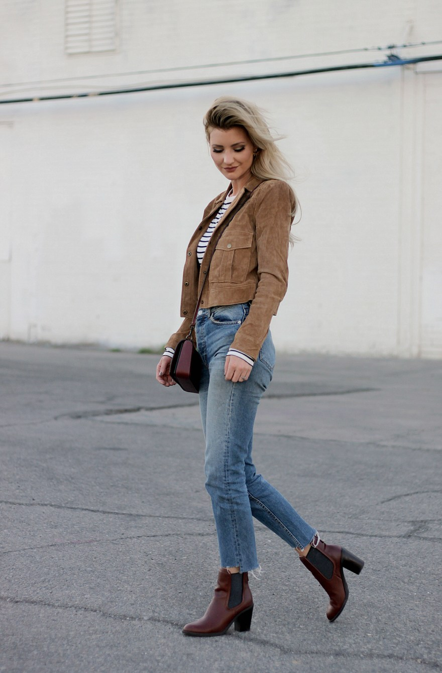 fall 2017, fall fashion, fall outfit, fall style, fall outfit ideas, 2017, a/w17, fashion blogger, style, style blogger, coach bag, Burgundy bag, suede jacket, military jacket, high waist jeans, h&m, ootd, how to wear, how to style, outfit inspiration, outfit Inspo, Lindsey Simon, The Noms Niche, Burgundy Boots, booties, casual style, laid back style, street style, The Noms Niche, Lindsey Simon