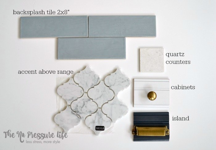 Blue and White Kitchen Mood Board