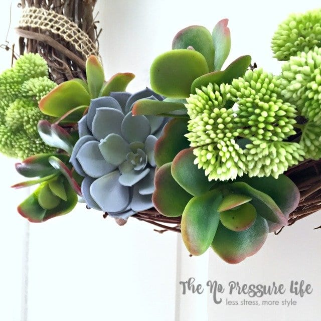 How to make a DIY faux succulent wreath