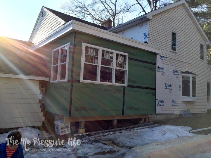 The No Pressure Life house exterior with addition