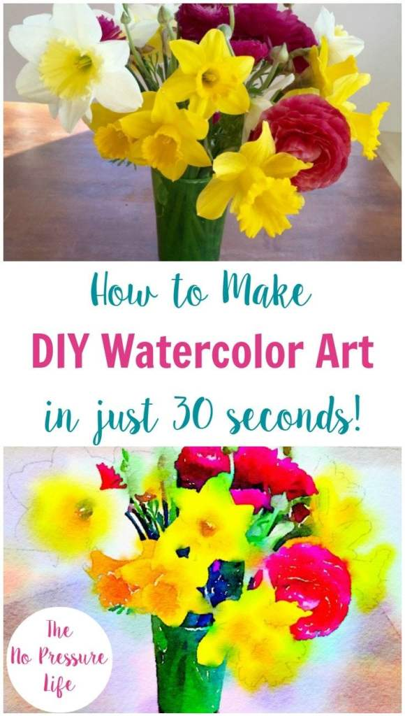 It's so easy to make your own watercolor art! DIY watercolor art, watercolor art tutorial, easy watercolor art, DIY watercolor painting, Waterlogue