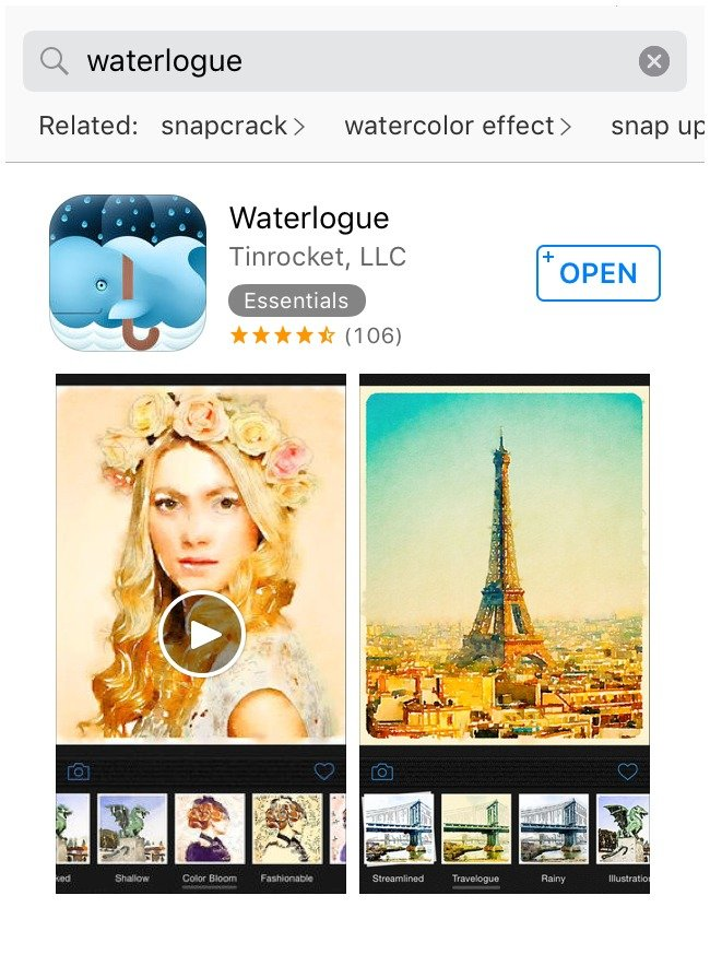 DIY Watercolor Art - Waterlogue App
