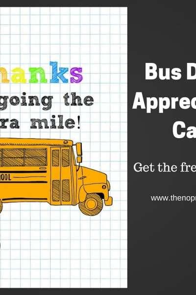 Bus Driver Appreciation Card
